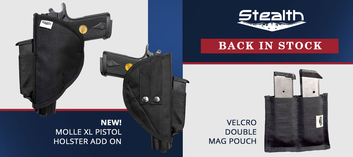 Stealth Molle Holster | Velcro Clip Pouch