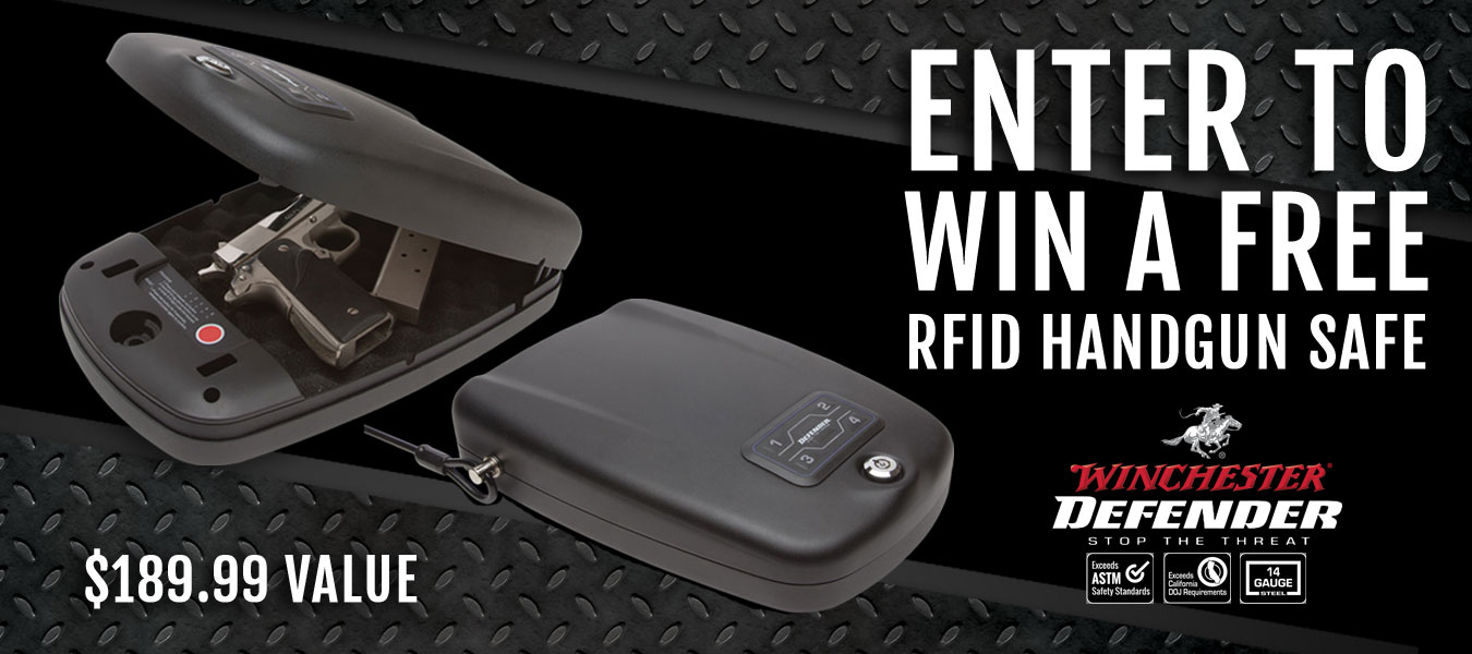 Giveaway | Enter to win a FREE Winchester RFID Handgun Safe
