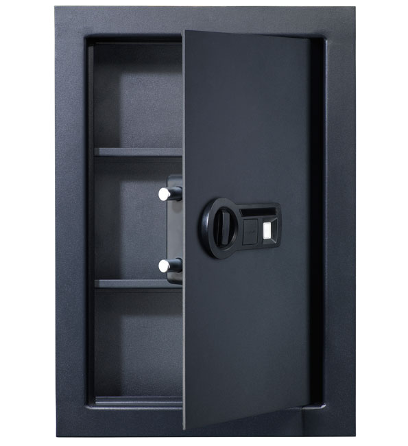 Wall Safes For Home stack-on biometric wall safe mid-size pws-15522-b - wall safes