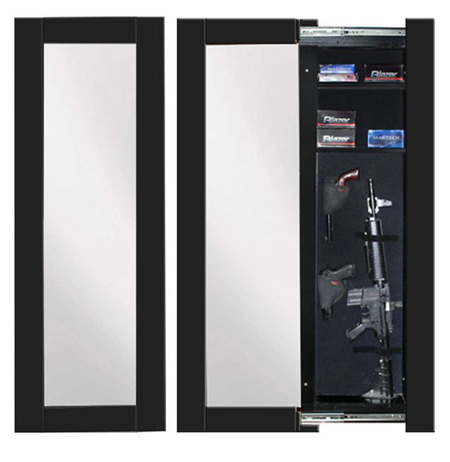Willa Hide Hidden Reflections Full Length Concealment Mirror   Wall Safes