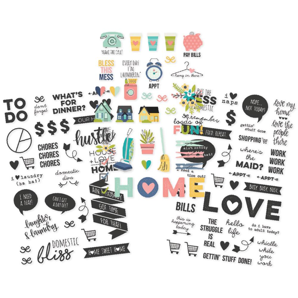 domestic bliss, stickers, planner stickers, simple stories