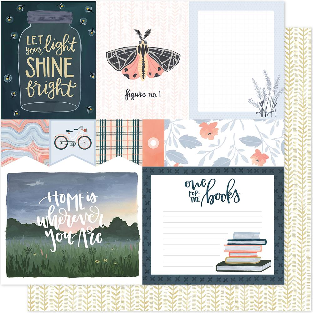 1PC Scrapbooking Paper oneCANOEtwo CREEK SIDE WORDS 12x12 Dbl-Sided