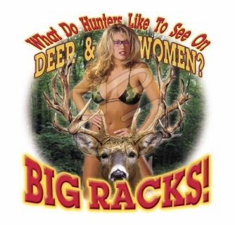 Shine deer hunting with boobs remarkable, the