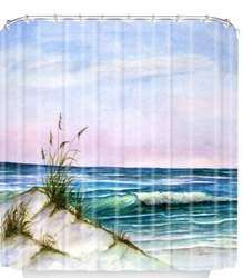 Along The Shore Coastal Shower Curtain