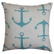 Anchor Pillow Aqua
