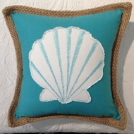 Aqua Clamshell Pillow