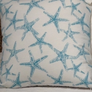 Aqua Starfish Pillow 22x22