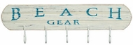 Beach Gear wall Hook Sign