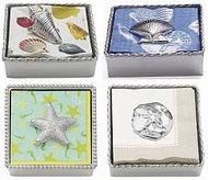 Beach, Tropical Nautical Napkin Holders and Weights