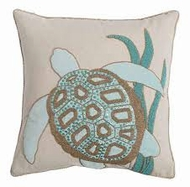 Beaded Turtle Pillow