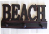 Black Beach peg sign