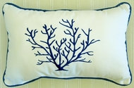 Blue Coral Pillow oblong