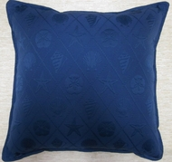 Blue Matelasse Pillow