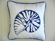 Blue Nautilus Pillow