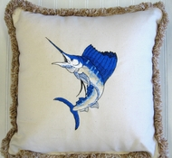 Blue Sailfish Pillow