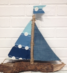 Blue Sand Dollar Sailboat