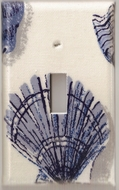 Blue Seashell Switchplates