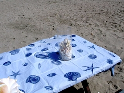 Blue Shell Tablecloth