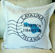 Catalina Longitude Latitude Pillow