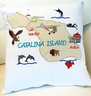 Catalina Map Pillow