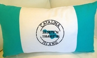 Catalina Oblong Aqua latitude Pillow
