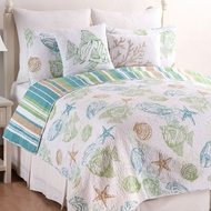 Catalina Shores Coastal Twin Quilt Set