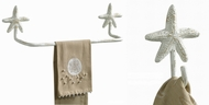 Coastal and Starfish Towel Holder and Hooks