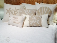 Coastal Bedding Set White Sand Queen