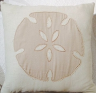 Coastal Pillow White Sands Sand Dollar