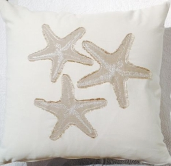 Coastal Pillow White Sands Starfish