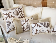 Coastal Pillows Capri Brown Collection