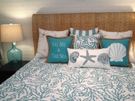 Coastal Reef Blue Queen Quilt
