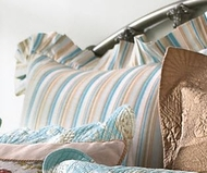 Coastal Seashell Euro Sham Cape Cod Stripe