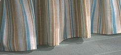 Coastal Seashell Queen Bedskirt Stripe