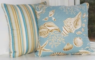 Coastal Seashell Quilted Throw Pillow Cape Cod