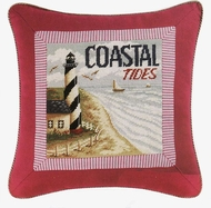 Coastal Tides Hooked Pillow