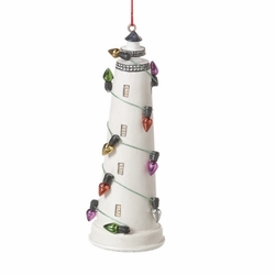 Decorated Lighthouse Ornament