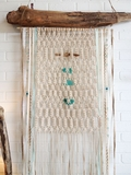 Driftwood and Seaglass Macrame wall Art