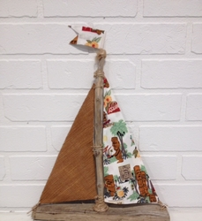 Driftwood Sailboat Tiki