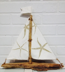 Driftwood Sailboat Waterside