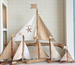 Driftwood Sailboats Natural