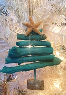 Driftwood Tree Ornament Turquoise