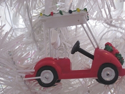Holiday Golf Cart Ornament