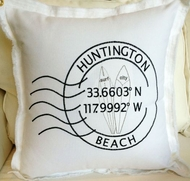 Huntington Beach Longitude Pillow