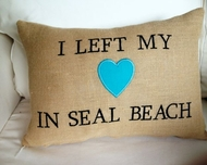 I left my heart in Seal Beach Pillow