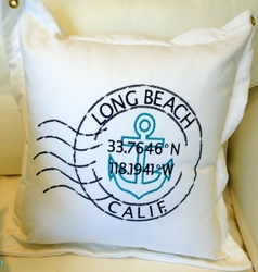 Long Beach latitude Pillow