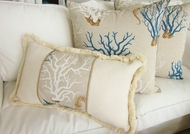 Mediterranean Blue Coral Pillows