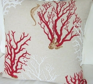 Mediterranean Red Coral Pillow