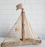 Natural Driftwood Sailboat Corfu
