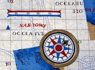 Nautical Valance Coastal Charts
